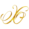 Monogram X Gold Faux Foil Monograms Metallic Initials
