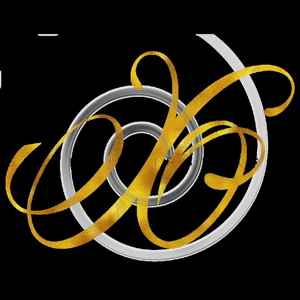 Monogram X Gold Faux Foil Monograms Metallic Initials