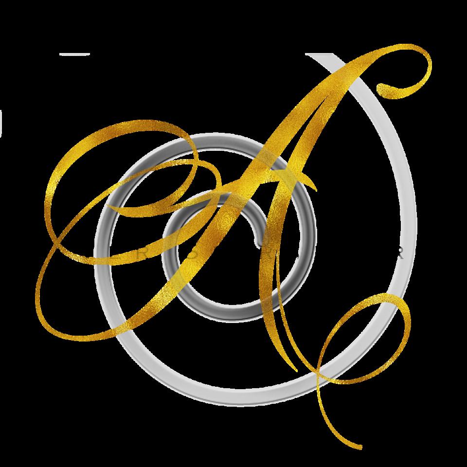 Monogram A Gold Faux Foil Monograms Metallic Initials