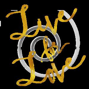 Live For Love Gold Faux Foil Metallic Motivational Quote