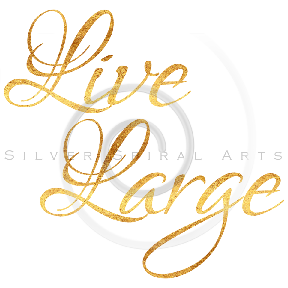 Live Large Quote Gold Faux Foil Metallic Inspirational Quotes