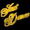 Just Dance Gold Faux Foil Metallic Glitter Quote