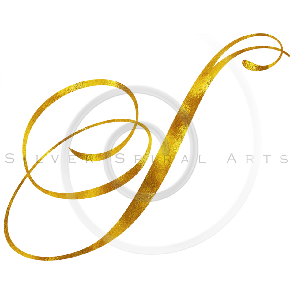 Monogram S Gold Faux Foil Monograms Metallic Initials