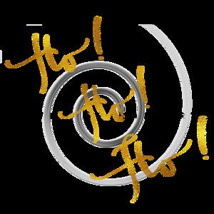 Ho Ho Ho Gold Faux Foil Metallic Motivational Quote