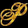 Monogram P Gold Faux Foil Monograms Metallic Initials