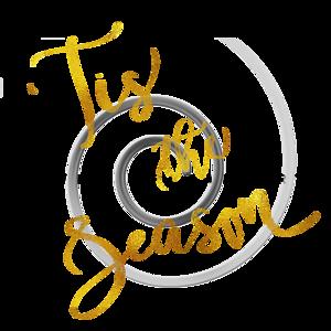 Tis The Season Gold Faux Foil Metallic Motivational Quote