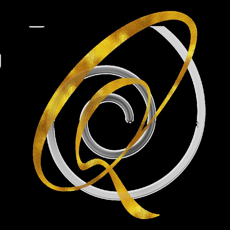 Monogram Q Gold Faux Foil Monograms Metallic Initials