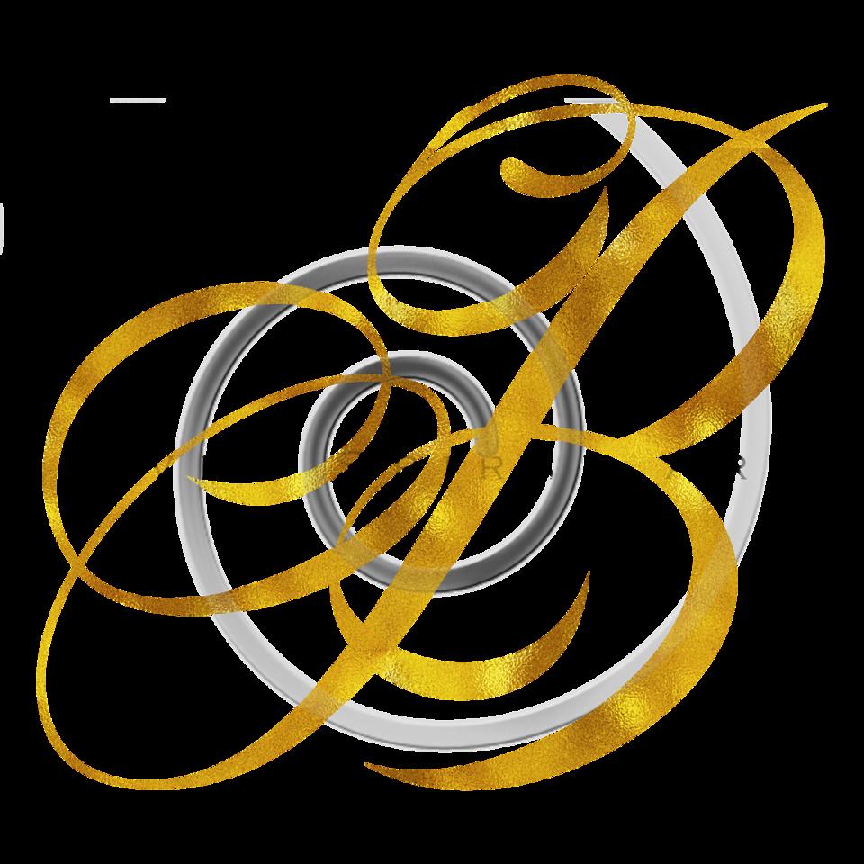 Monogram B Gold Faux Foil Monograms Metallic Initials
