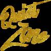 Quiet Zone Gold Faux Foil Metallic Glitter Quote