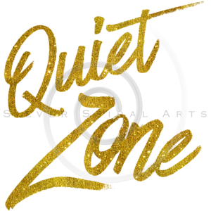 Quiet Zone Gold Faux Foil Metallic Glitter Quote
