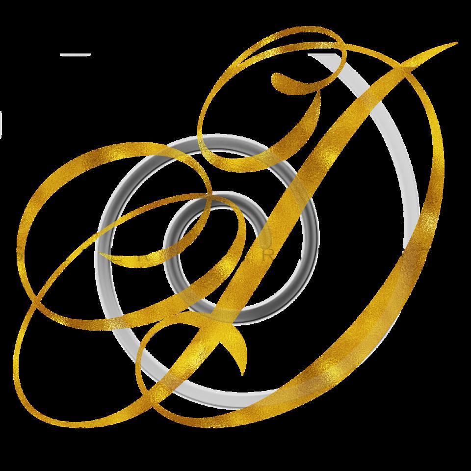 Monogram D Gold Faux Foil Monograms Metallic Initials