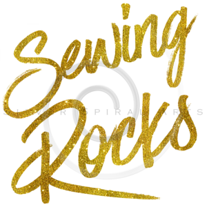 Sewing Rocks Gold Faux Foil Metallic Glitter Quote