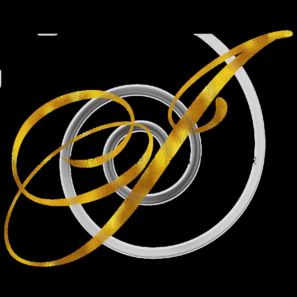 Monogram I Gold Faux Foil Monograms Metallic Initials