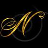 Monogram N Gold Faux Foil Monograms Metallic Initials