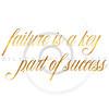 Failure Success Quote Gold Faux Foil Inspirational Quotes