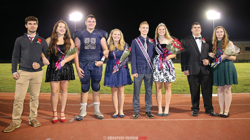 Watkins Glen celebrated homecoming, Saturday, Oct. 14. The homecoming court included: Tanner Ryan and Emmie Bond, Dayne Hughey and Jazmin Shea, King Simon Wigmore and Queen Clara Chedzoy and Jared Prien and Amber Benjamin.
