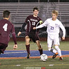 Noah Detar moves the ball up the field during the game last week.