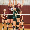 Erika Gould and Alyssah Newell shut down a Harley-Allendale Columbia return Thursday, Oct. 19.