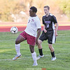 Deshawn Johnson settles the ball by the S-VE goal in the sectional game last week.