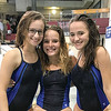 Watkins Glen divers Madelyn Suddaby, Lexi Castellaneta and Jena Slater. PHOTO PROVIDED