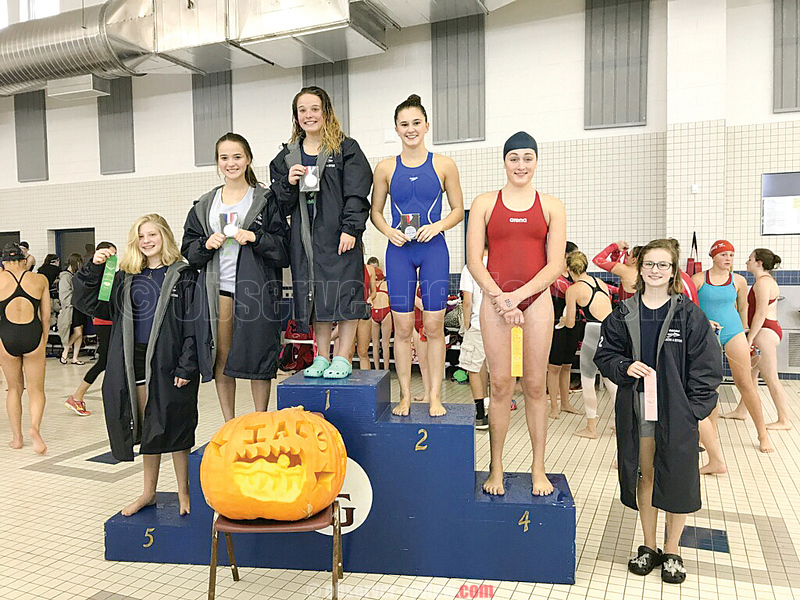 Watkins Glen diving had an impressive showing at the IAC championship. On the podium for Watkins was: Maria Brubaker (fifth), Jena Slater (third), Lexi Castellaneta (first) and Madelyn Suddaby (sixth). PHOTO PROVIDED