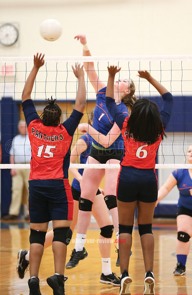 Emily Wunder blasts a spike for a kill in the sectional game Thursday, Oct. 26.