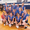 The Penn Yan girls volleyball team has a photo taken at Webster after finishing second to Wayne, Saturday, Nov. 4. GREG FRANCIS PHOTO