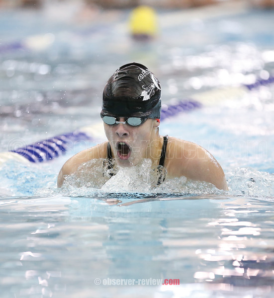 Odessa-Montour's Tori Reese competes in the 200 IM at the prelims at Watkins Glen, Wednesday, Nov. 1.