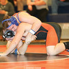 Coty Bailey sets up a pin in the match last week. He won in 1:25.