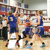 Ryanna LaMoreaux drives into the lane, Friday evening against Tioga.