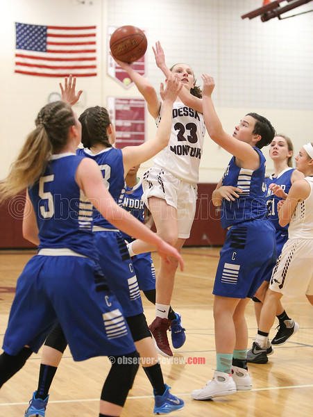 Alexis Saunders shoots for two points last Friday.