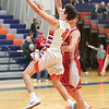 Derrick Riviello goes in for a layup Tuesday, Feb. 14 against Palmyra-Macedon.