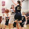 Gillian Clark puts up a layup in the sectional game Friday night.
