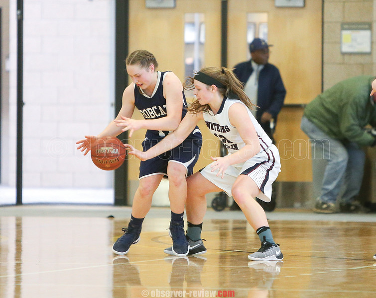 Clara Chedzoy works on defense to upset the Bainbridge-Guilford offense during the Section IV Class C championship game.