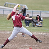 Megan Sutherland throws a pitch against Red Jacket, Monday, April 3.