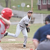 Bobby Strait delivers a pitch for Dundee, Monday, April 3 against Red Jacket.