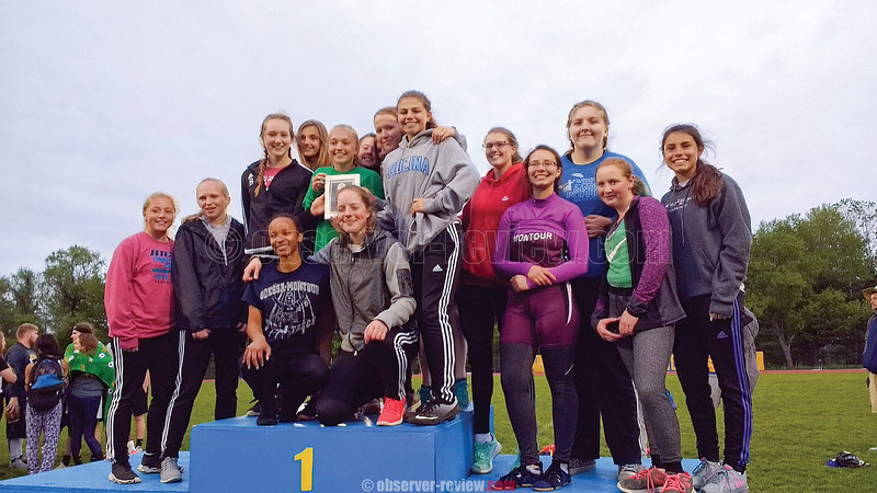 The Odessa-Montour girls varsity track and field team won the IAC small school championship last week. Photo Provided.