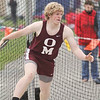 Zach Elliott won the shot put and discus events at the meet. George Rutledge photo
