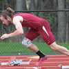 Wylie Hall breaks out of the starting blocks, Tuesday, April 25 at Dundee.