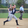 Amber Benjamin fields a grounder and throws to first base last week.