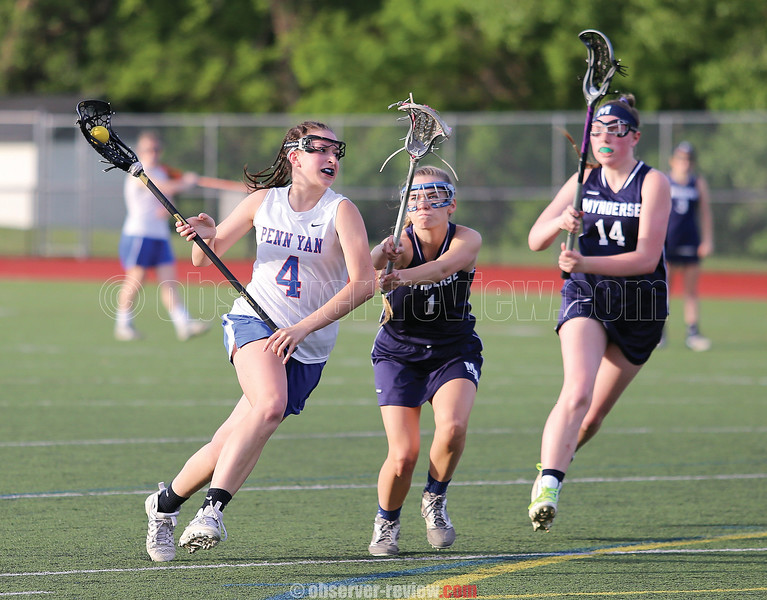 Elissa Callaway had eight goals for Penn Yan in the sectional quarterfinal game Tuesday, May 23.