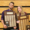 David Summerson Male Athlete award winner Bobby Strait and Dundee Female Athlete Award recipient Madison Neu.