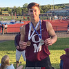 Odessa-Montour's Andy Fudala advances to the New York state track and field meet. Photo Provided