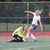 Penn Yan's Joddie Decker is stopped by the Haverling/Bath goalie, Thursday, Sept. 7.