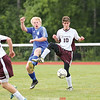 Josh Kane works to settle the ball against Honeoye, Wednesday, Sept. 6.