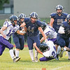 Noah Angle picks up yardage for the Seneca Indians, Saturday, Sept. 9.