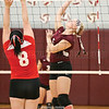 Alyssah Newell goes up to spike the ball, Friday, Sept. 22.