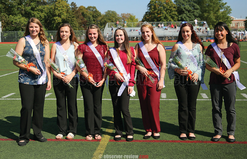 Penn Yan's homecoming princesses included: Breona Lane-Tomion, Allie Dixon, Jenna Compton, Riley Kuver (2017 queen), Megan Griffin (2016 queen), Akiya Brewer and Kenna Bradley.