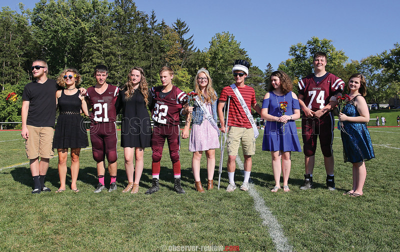 Dundee's homecoming king and queen candidates included: Cameron Howell, Adele Fishbaugh, Ryan Prior, Sarah Easling, Cordell Smith, Brianne Maloy (queen), Joshua Kane (king), Renee Wolverton, Connor Briscoe and Olivia Trank.