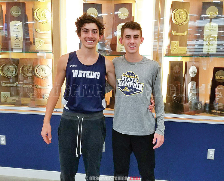 Gabe Planty and  Aaron Planty pose for a photo at Ithaca College, Friday, Jan. 19